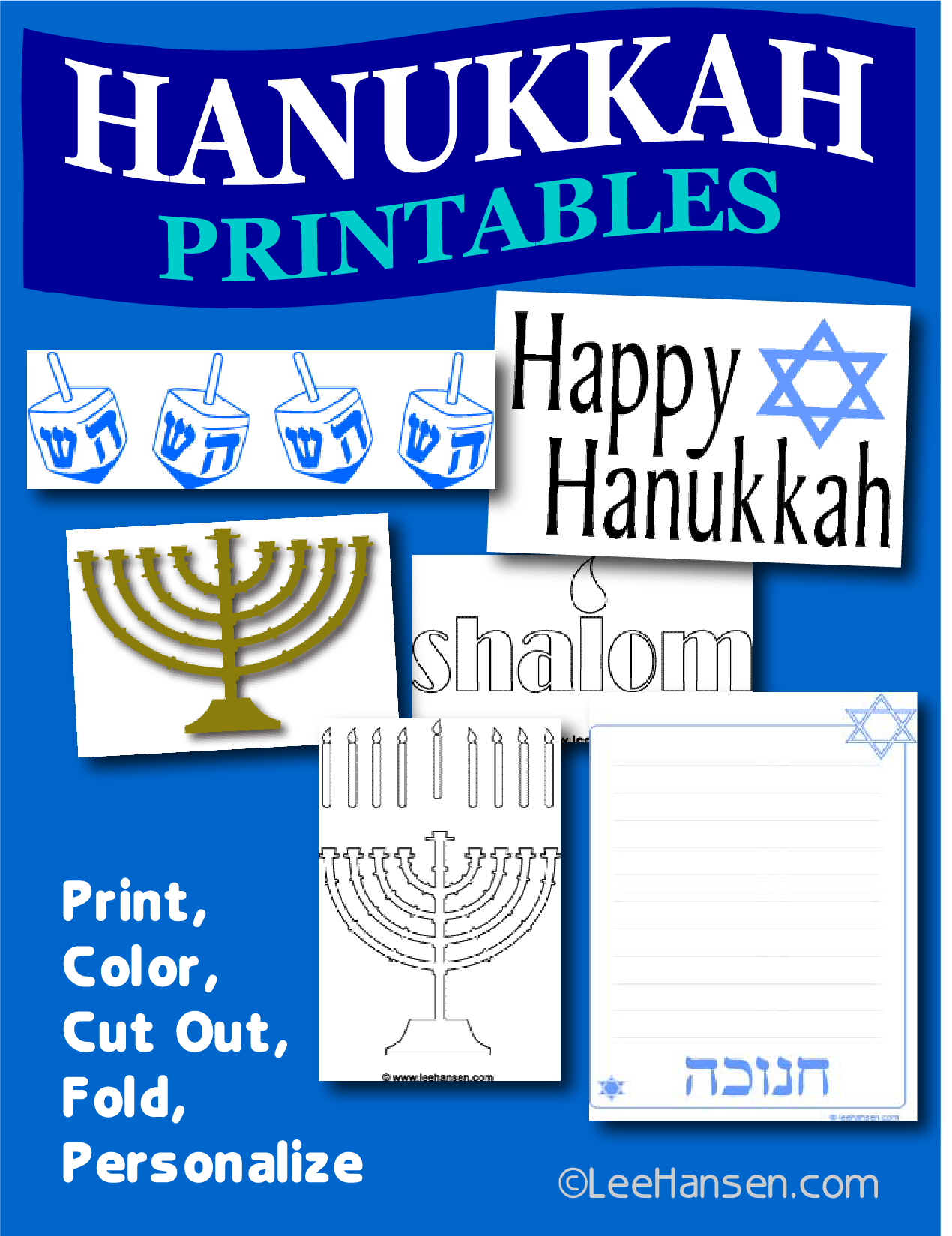 Hanukkah Printables And Activity Pages