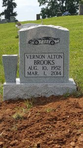 Gravestone with custom artwork