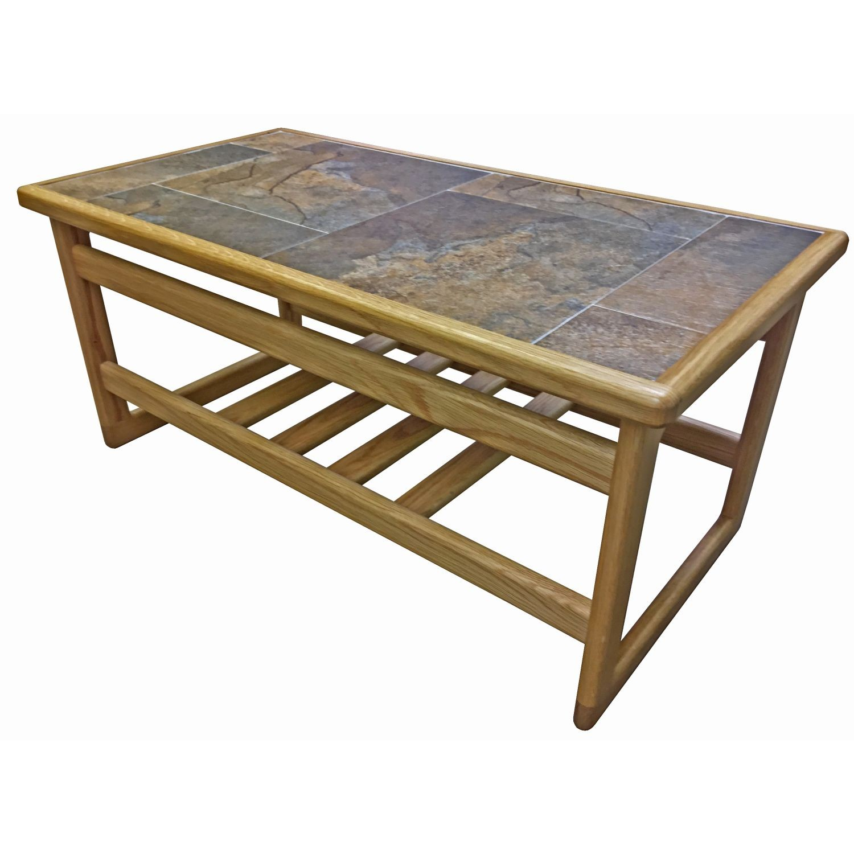 casa autumn tile top coffee table