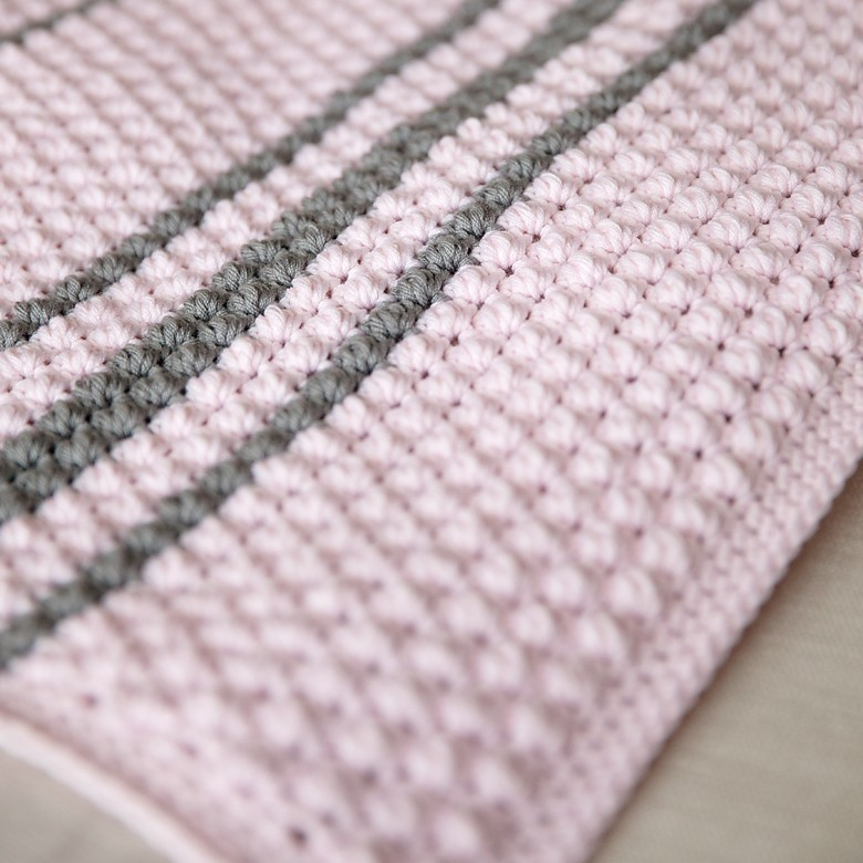 Bobbles And Stripes Crochet Baby Blanket Pattern Leelee Knits
