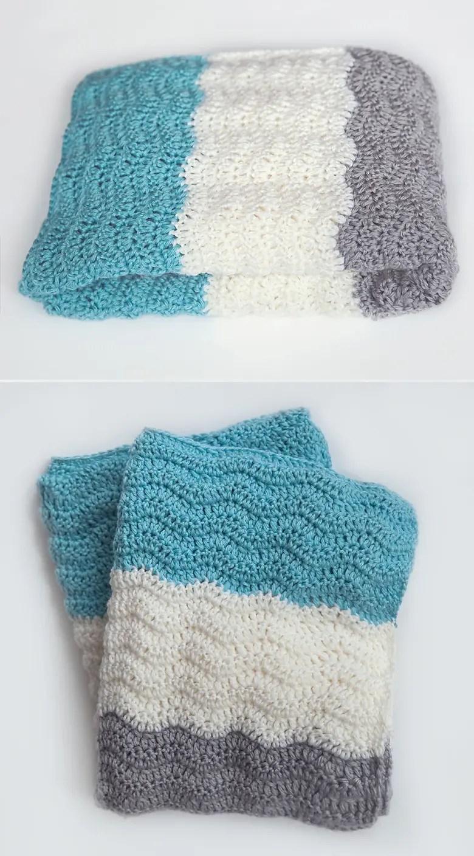 Free Chevron Baby Blanket Crochet Pattern - Leelee Knits