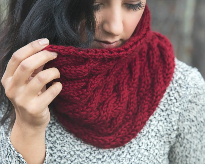 Chunky Cabled Cowl Free Knitting Pattern Leelee Knits