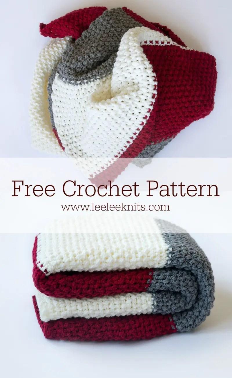 Color Block Throw - Free Crochet Blanket Pattern - Leelee Knits