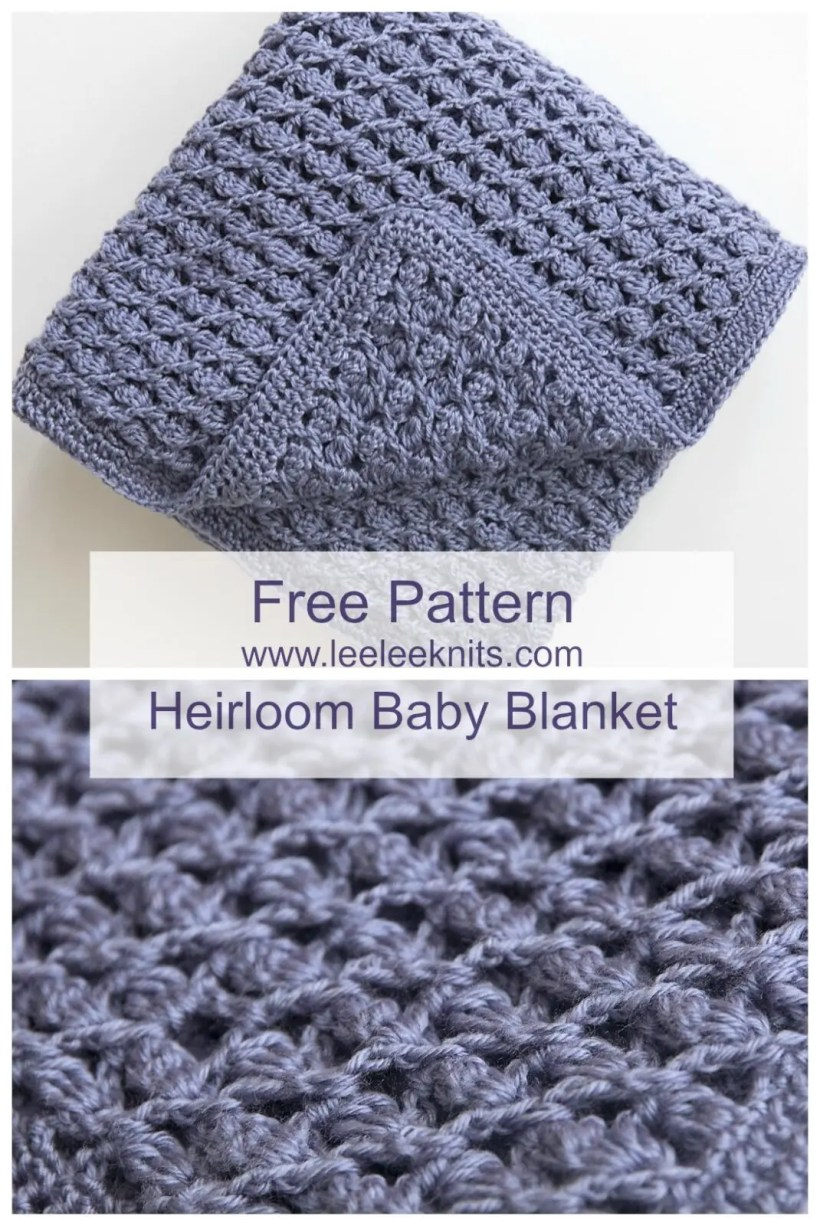 Free Heirloom Baby Blanket Crochet Pattern - Leelee Knits