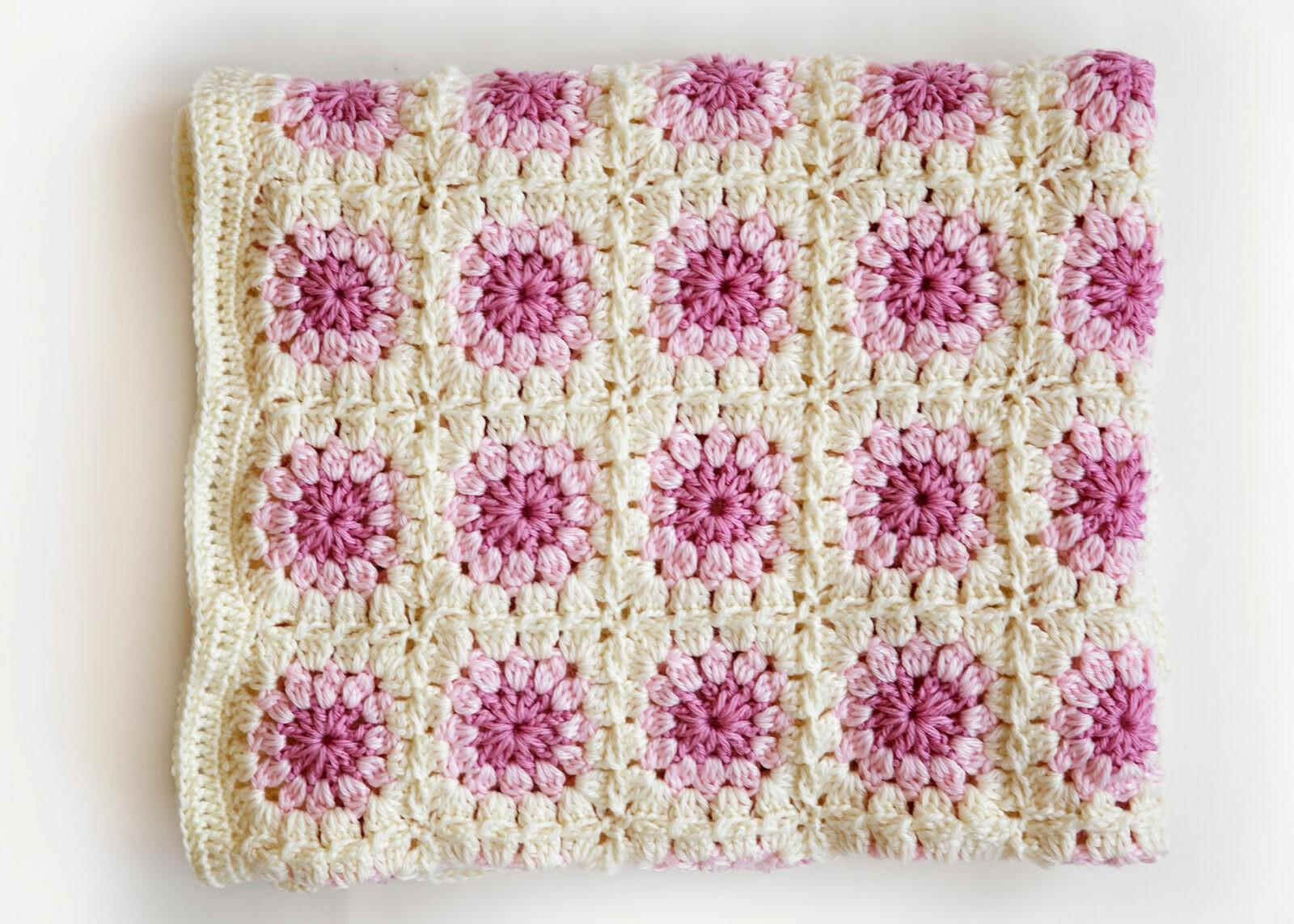 50b8c513658 Bloom Afghan Throw Blanket - Leelee Knits