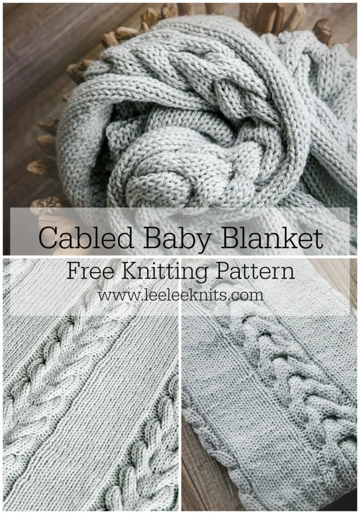Country Bliss Baby Blanket Leelee Knits