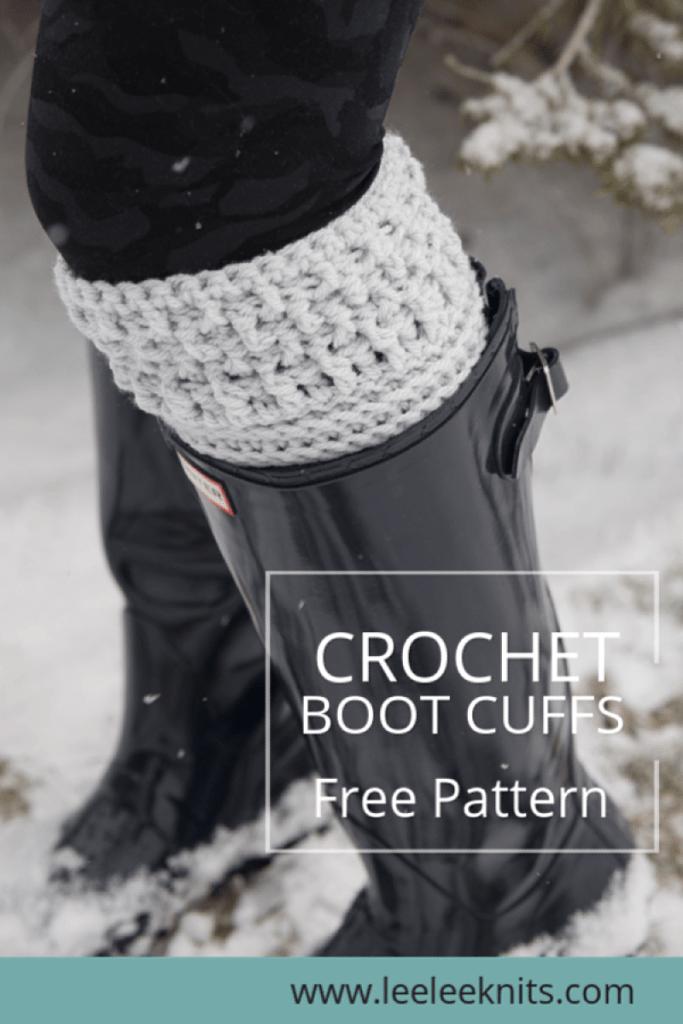 Modern Textured Boot Cuffs Crochet Pattern Leelee Knits Beauteous Boot Cuff Crochet Pattern