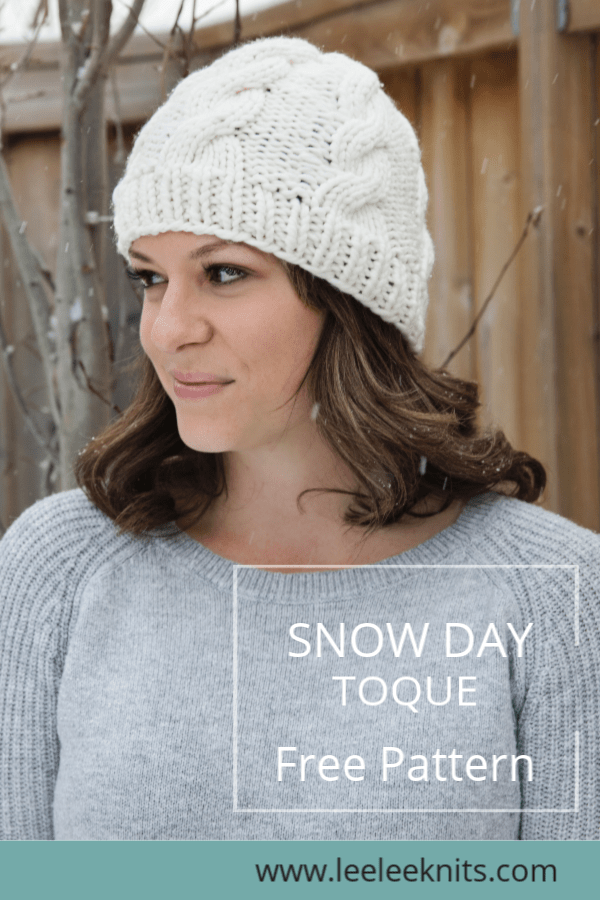 33e8ce6ccfdec1 Nothing says January like a warm cable knit hat! I designed this toque to  be extra toasty since we are heading into our coldest months of the year.
