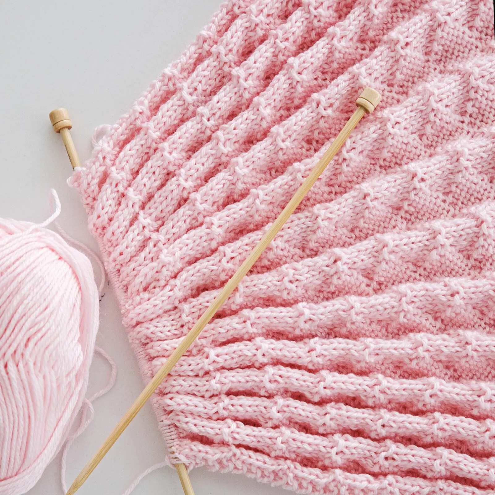 Diamonds and Purls Baby Blanket Knitting Pattern - Leelee ...