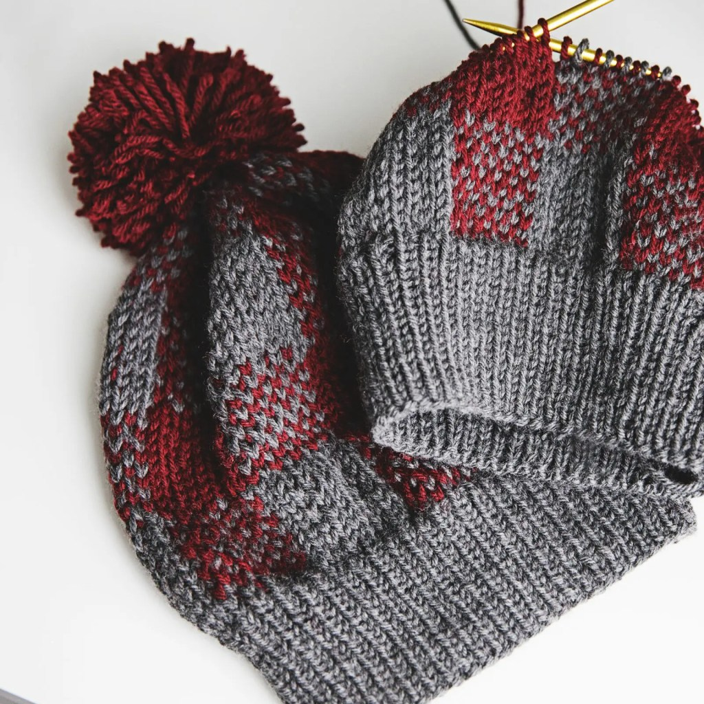 How to Knit a Buffalo Plaid Hat