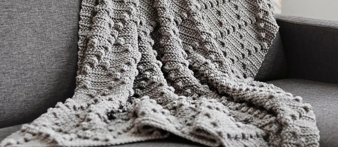 Crochet Bobble Stitch Blanket