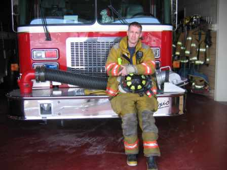 Lockers hold firefighter's turnout gear. (Tom Russo | Daily Reporter)
