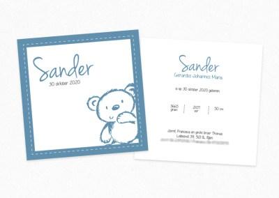 Geboortekaartje Sander