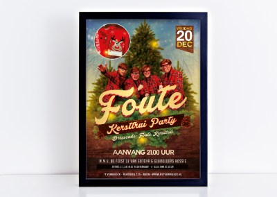 Poster Foute Kersttrui Party