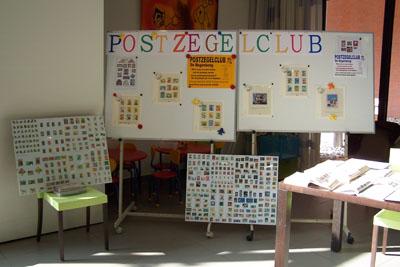 tentoonstelling postzegelclub van de Regenboog