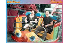 Kenny en ik in de Wild Mouse