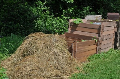 Hay for composting