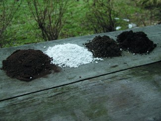 Some potting soil components