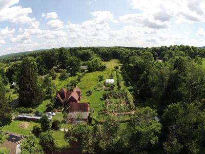 Farmden, aerial view
