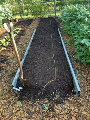 Composted garden bed