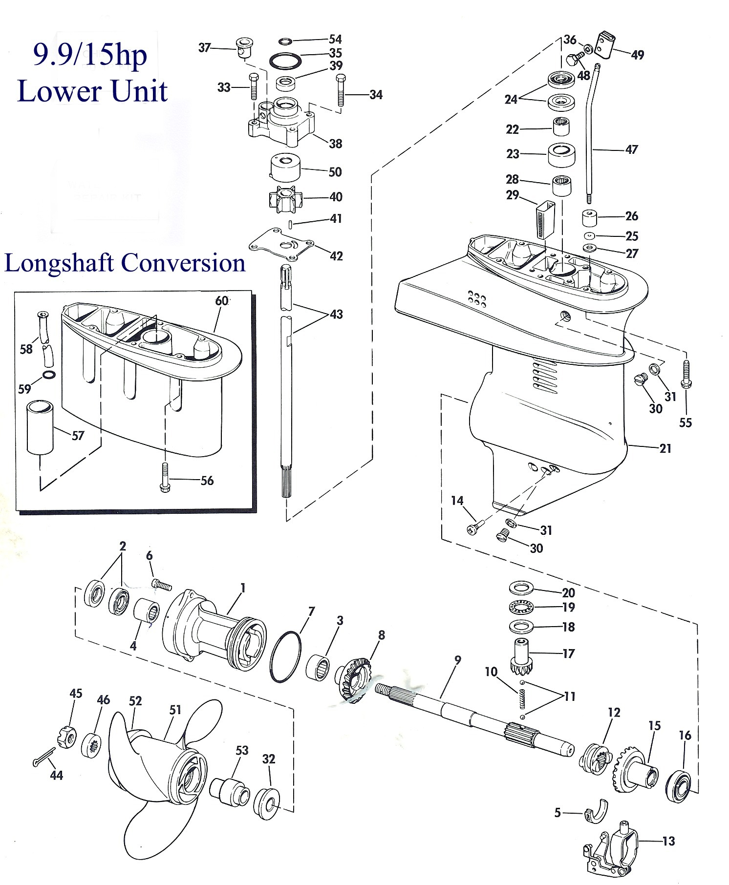 200hp Etec Lower Unit Workshop Manual