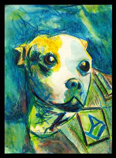 Real Dog Hero Sgt. Stubby Watercolor