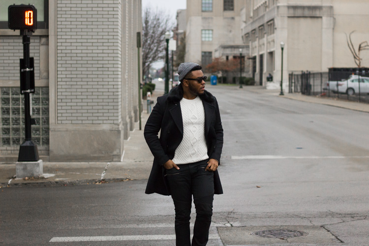 How to Wear Men's Cable Knit Sweater