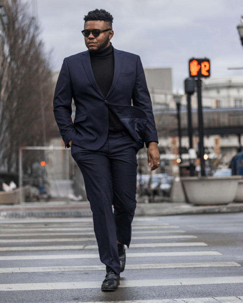 Kenneth Cole Slim,Fit Dark Blue Suit Styled 3 Ways , Lee\u0027s