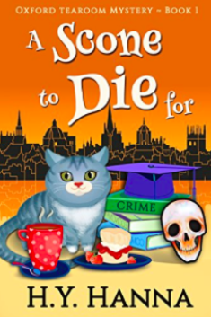 A Scone to Die for by H.Y. Hanna book cover
