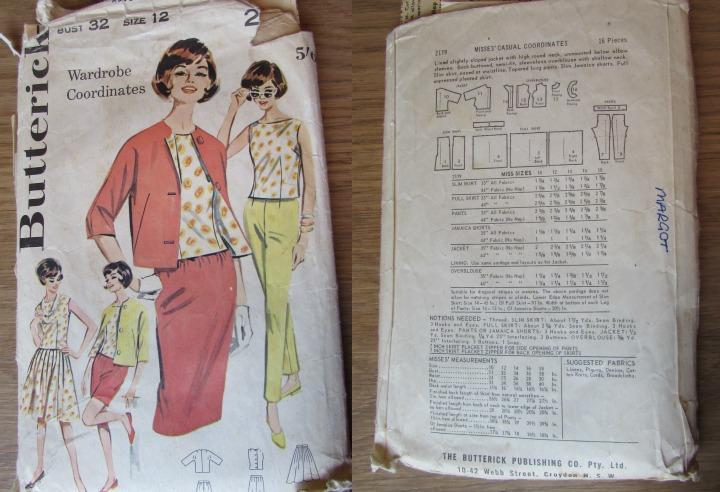 LeesVoer Vintage Patronen butterick 2179 60s