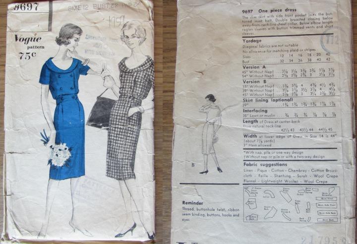 LeesVoer Vintage Patronen vogue 9697 1959
