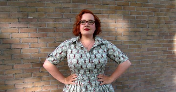 LeesVoer mccalls 6696 art nouveau jurk 3