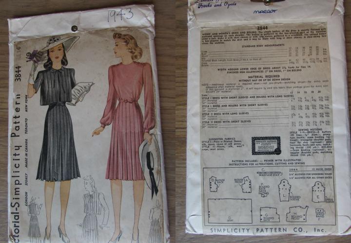 Leesvoer vintage patronen simplicity 3844