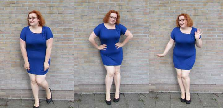 LeesVoer Refashion victims blauw jurkje