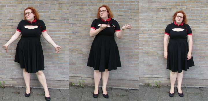 LeesVoer refashion victims zwarte jurk