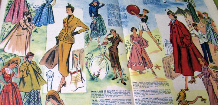 close up vintage franse modetijdschriften