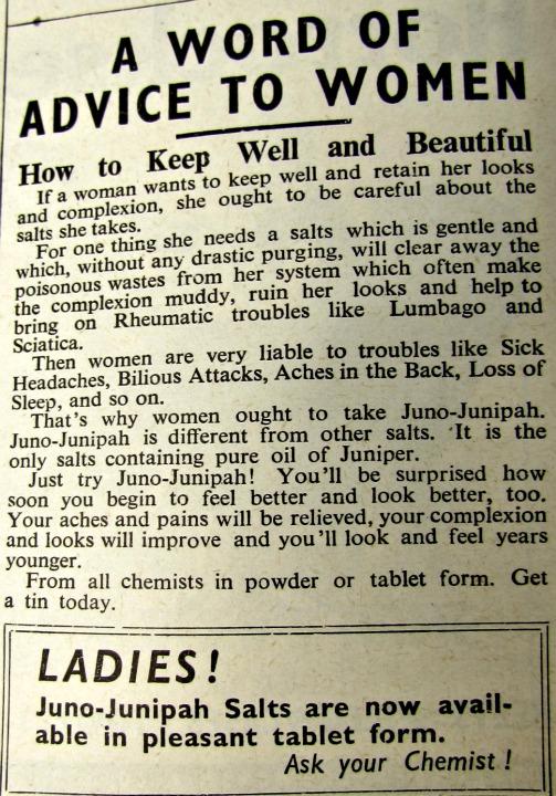 vintage reclames juno-junipah