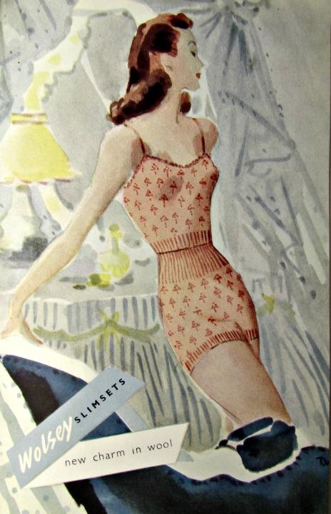 vintage reclames wollen ondergoed