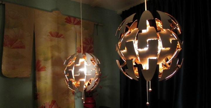 Death Star Lamp En Vintage Kimono Leesvoer