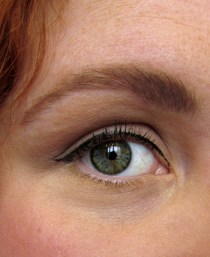 close up oog mua wenkbrauwen