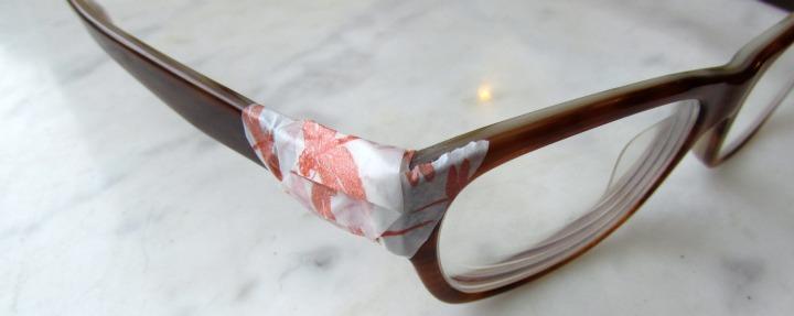 leesvoer bril met washitape washitape bril