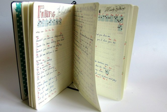 songbook schrijven met de hand