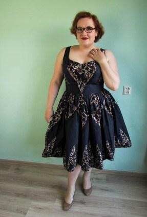 afrikaanse stof jurk met plooien-5-2