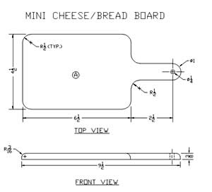 Cheese Cutting Board Plans