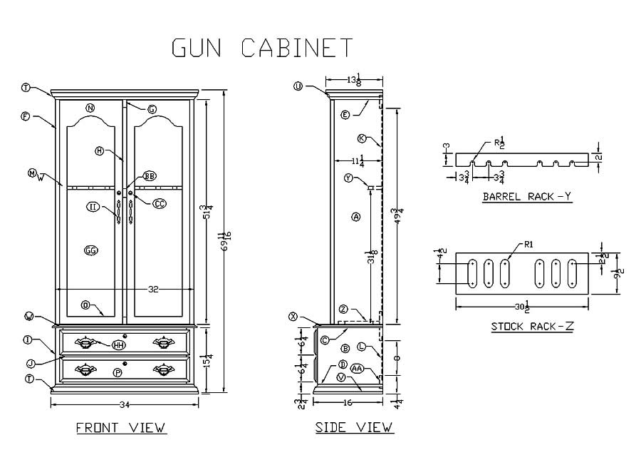 Knife Display Case Plans