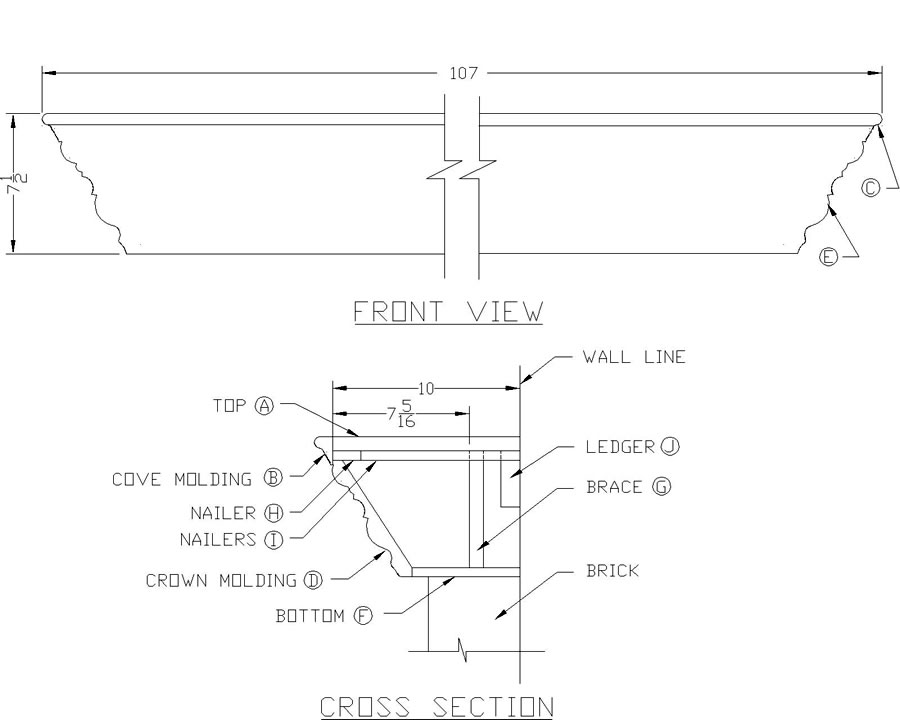 Pdf plans free fireplace mantel plans download rustic for Free blueprints online