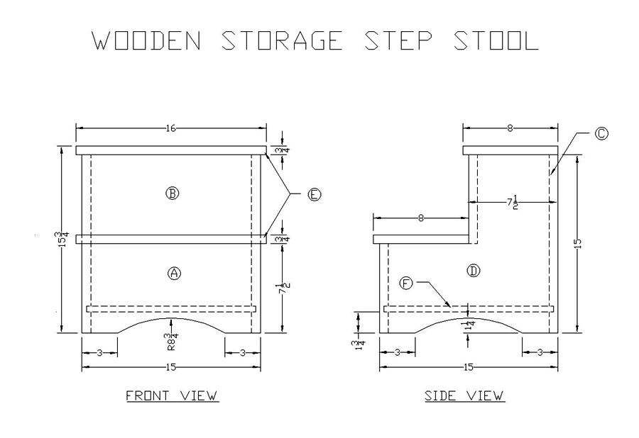 wood step stool plan