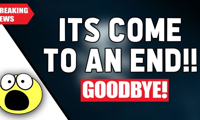 ALL GOOD THINGS COME TO AN END.........