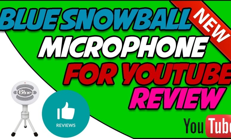 BLUE SNOWBALL REVIEW - BEST YOUTUBE MIC