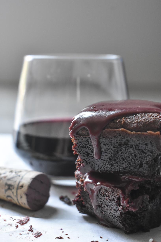 Merlot Wine Brownies